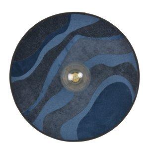 Wandleuchte Malachite Textil Nachtblau S - Market Set