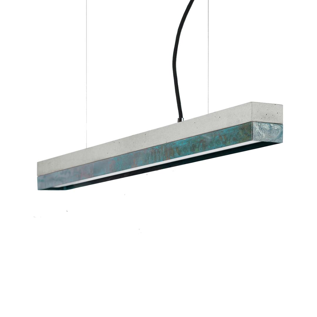 Hängeleuchte [C2] aus oxidiertem Kupfer 92cm GANTLights