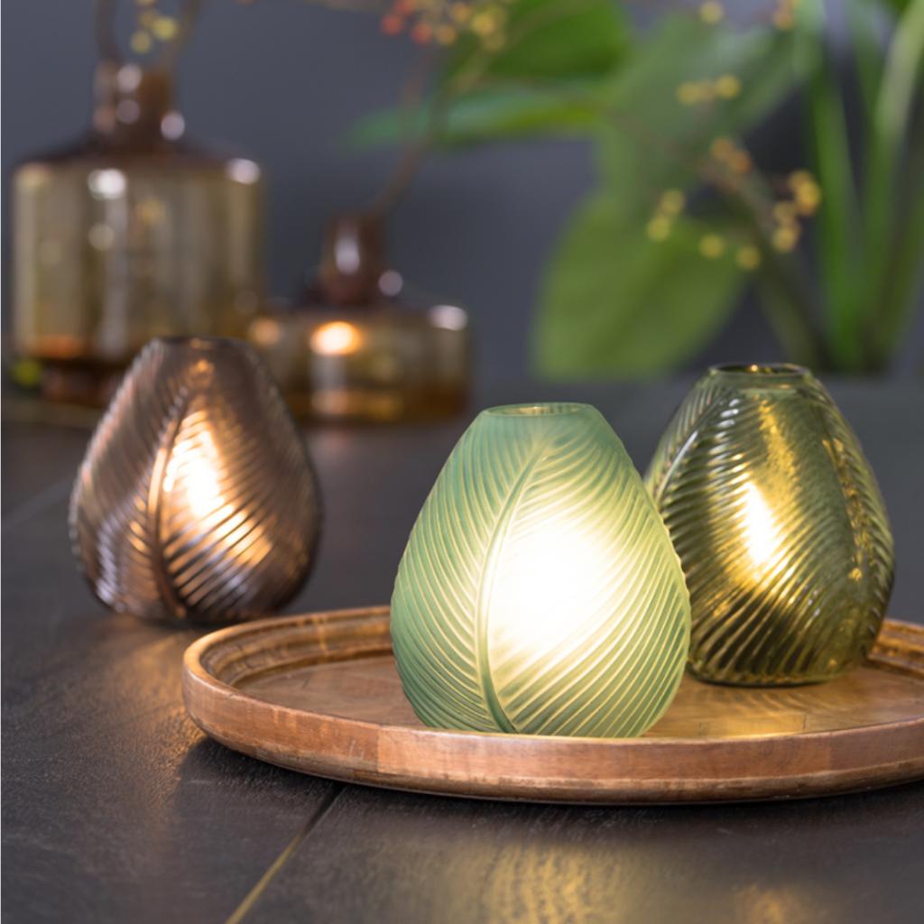 Lampe de table LED Brown Leaf