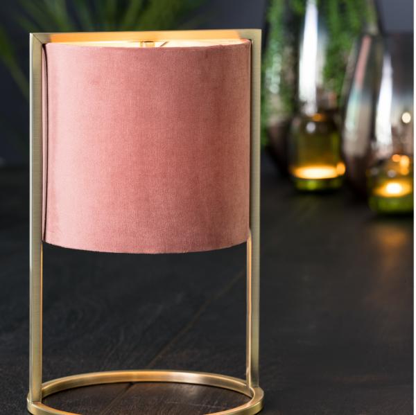 Lampe de table Antica Rose poudré