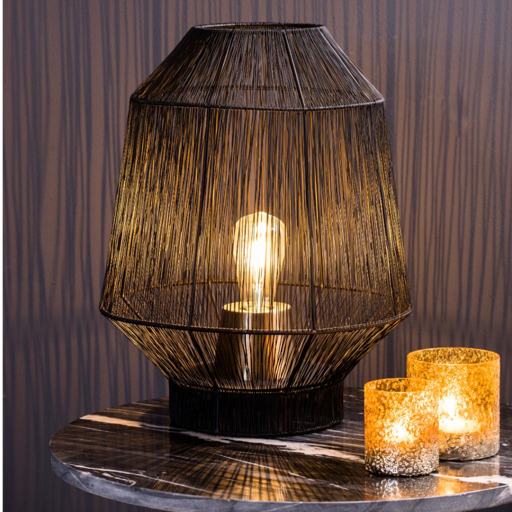 Lampe de table Vitoria noire