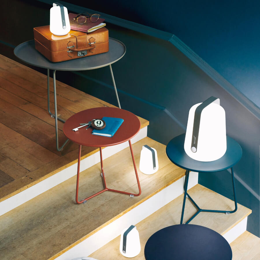 Lot de 3 lampes H.12 cm Balad bleu lagune - Fermob