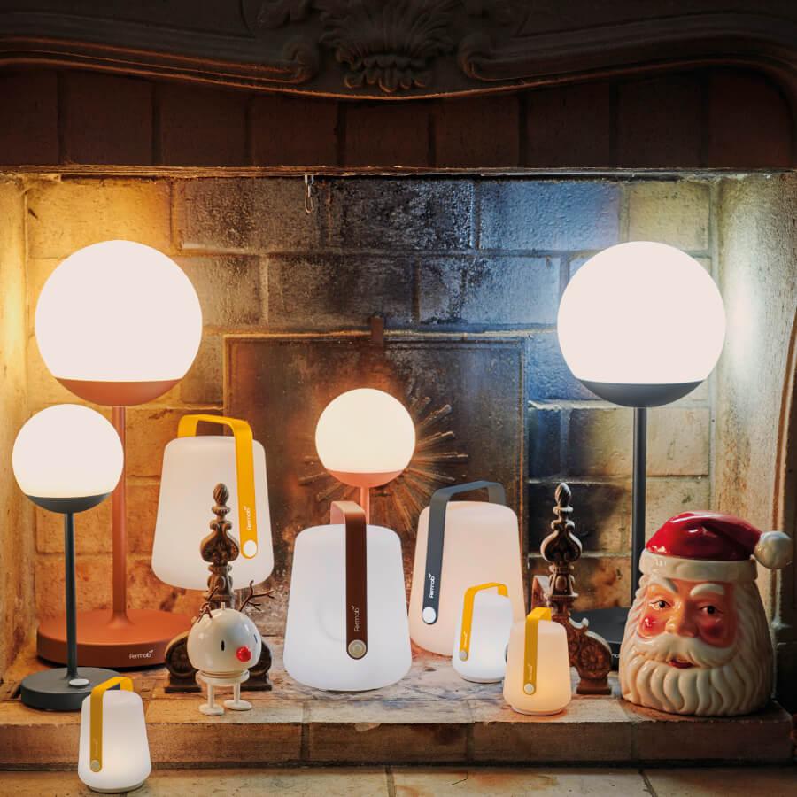 Lot de 3 lampes H.12 cm Balad Miel - Fermob