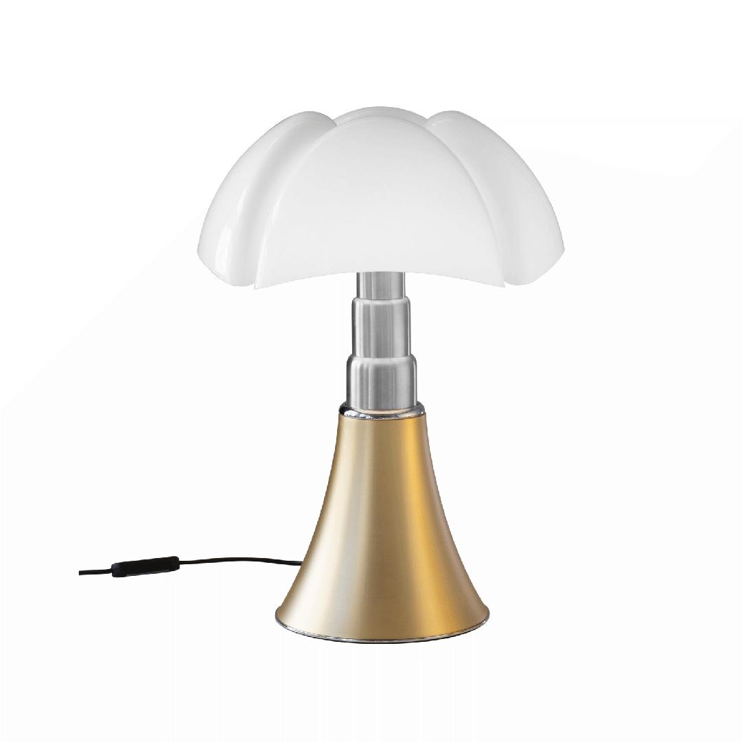 Lampe de table Pipistrello H. 50 à 62 cm Laiton - Martinelli Luce