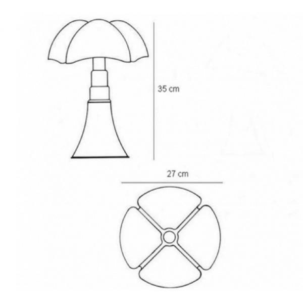 Lampe de table Mini Pipistrello Rouge - Martinelli Luce
