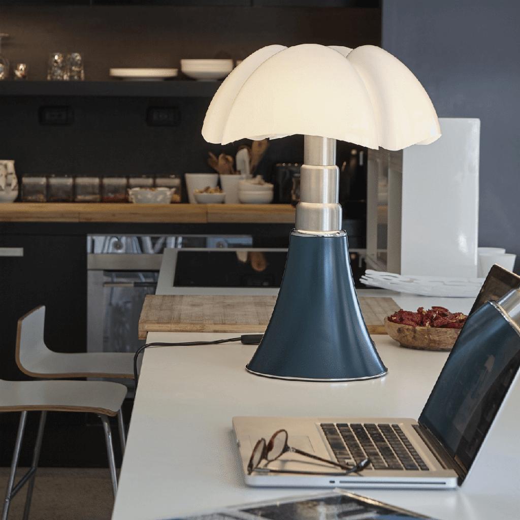 Lampe de table Pipistrello H. 66 à 86 cm Vert - Martinelli Luce