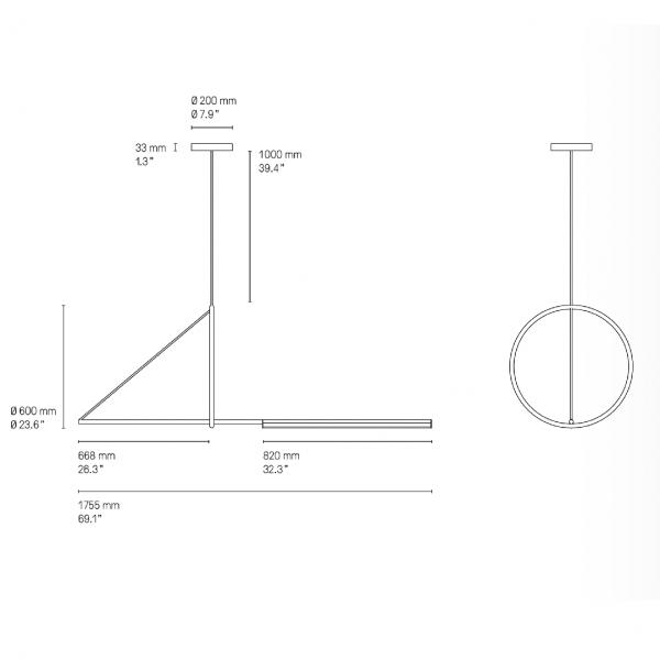 Suspension Cercle et Trait - CVL Luminaires