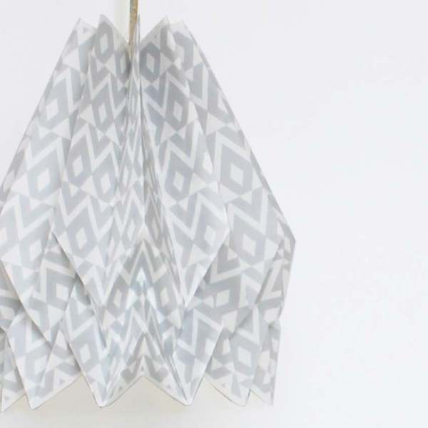 Hängeleuchte Origami Native Tupi Hellgrau - Orikomi