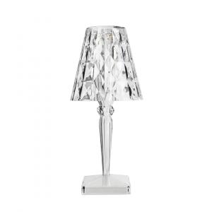 Lampe de table BIG BATTERY cristal sur secteur - Kartell