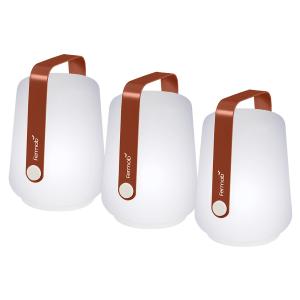 Lot de 3 lampes H.12 cm Balad Rouge Ocre - Fermob