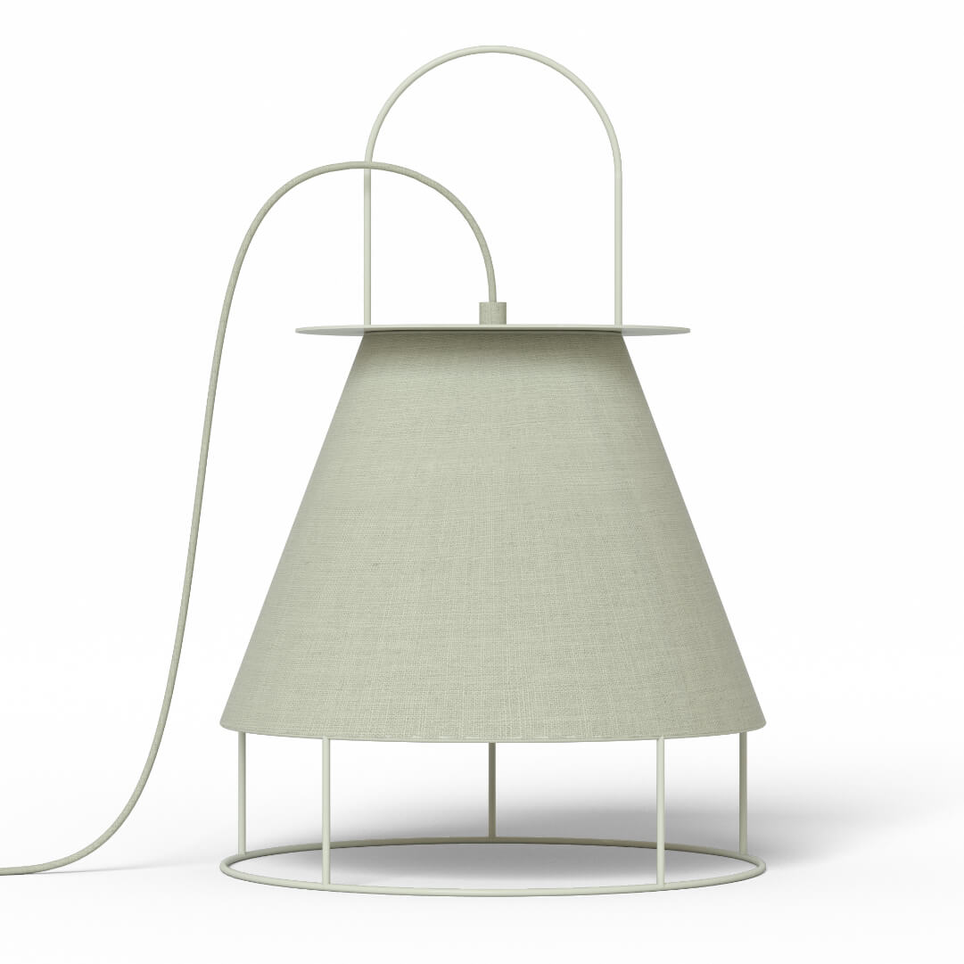 Lampe de table Claude light grey - HARTÔ