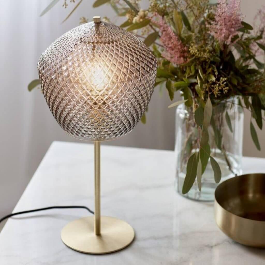 Lampe de table Rétro en verre sculpté - Nordlux