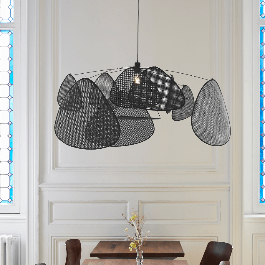 Suspension Screen en cannage noire - Market Set
