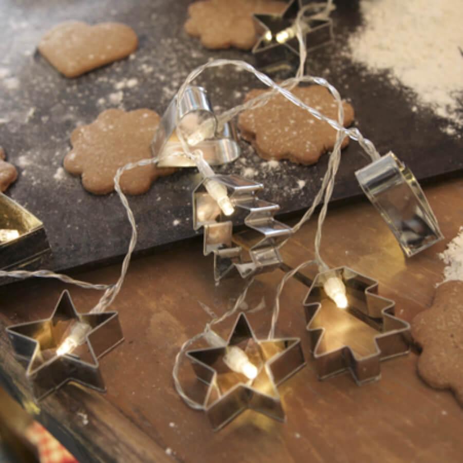 Guirlande LED biscuit de Noël