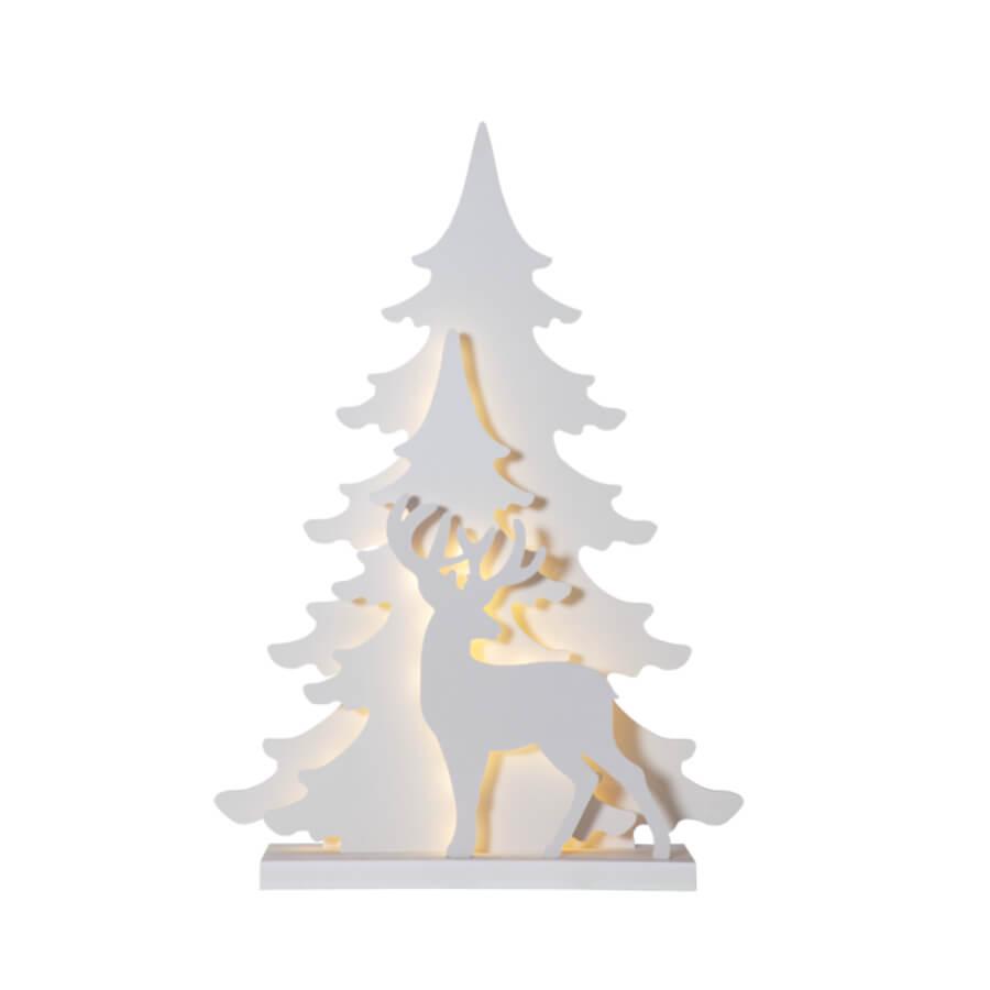 Décoration lumineuse Cerf blanc