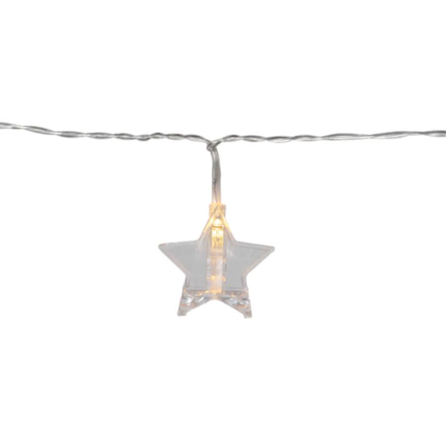 Leuchtende Lichterkette Silberstern