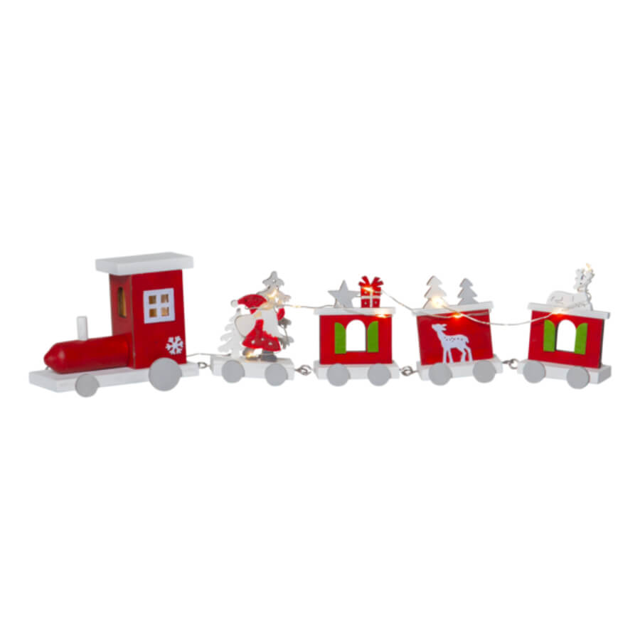 Décoration lumineuse Train rouge