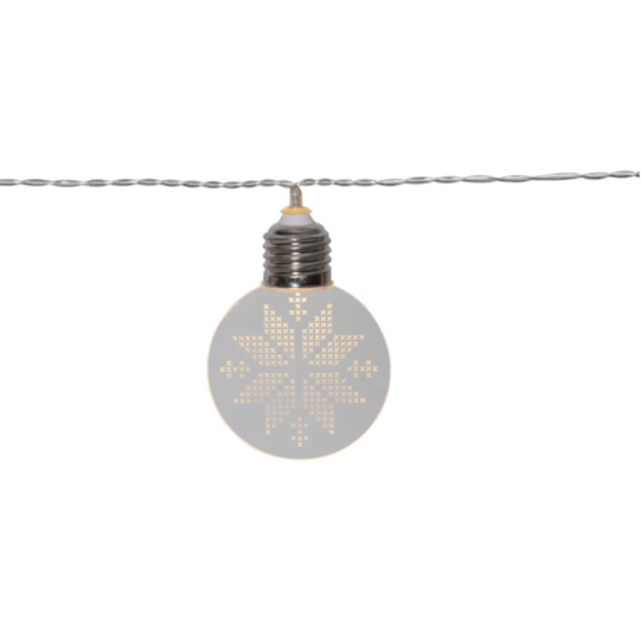 Leuchtende Lichterkette Schneeflocke LED