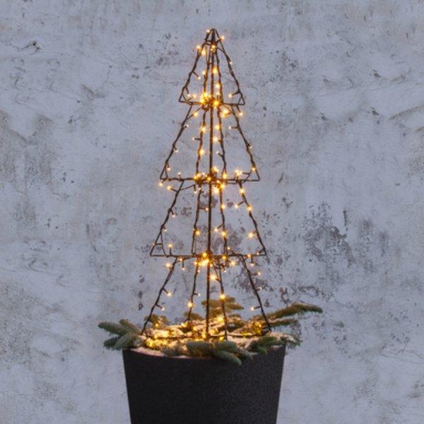 Décoration lumineuse sapin LED noir