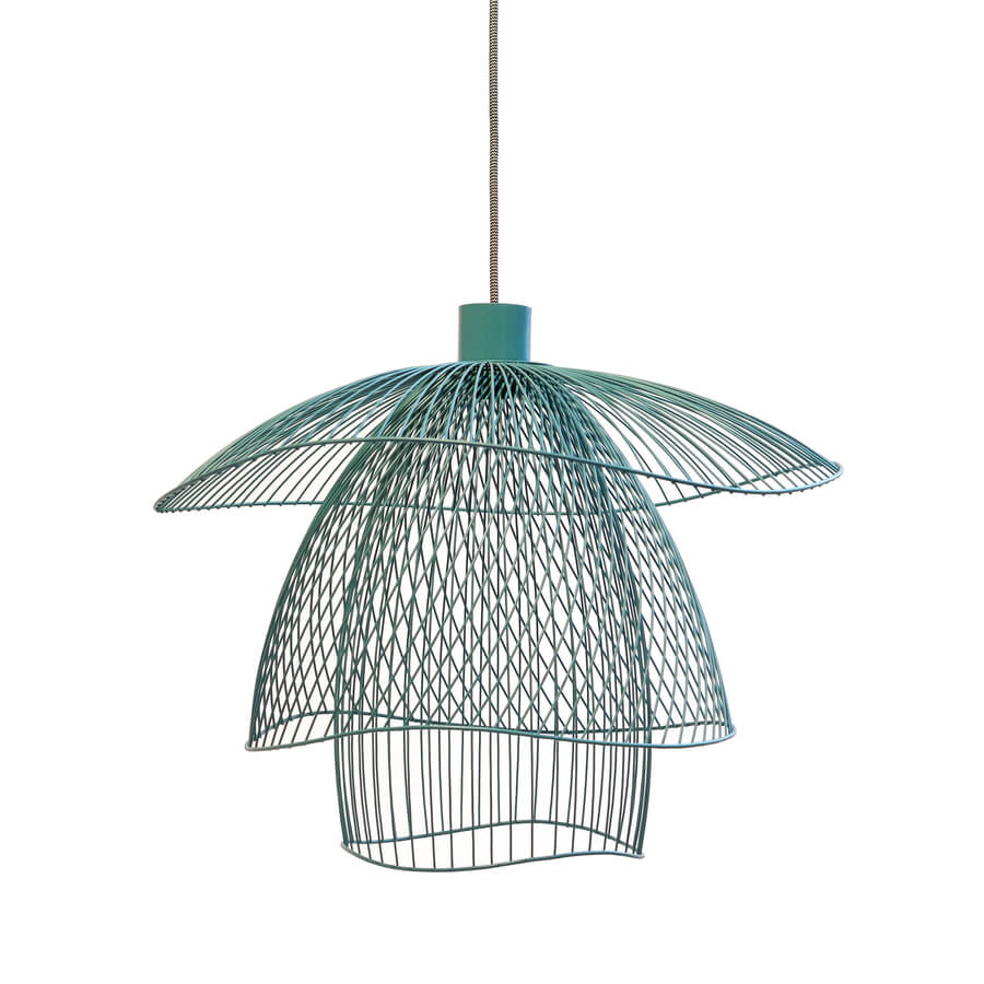 Suspension Papillon Bleu gris S - Maison Forestier