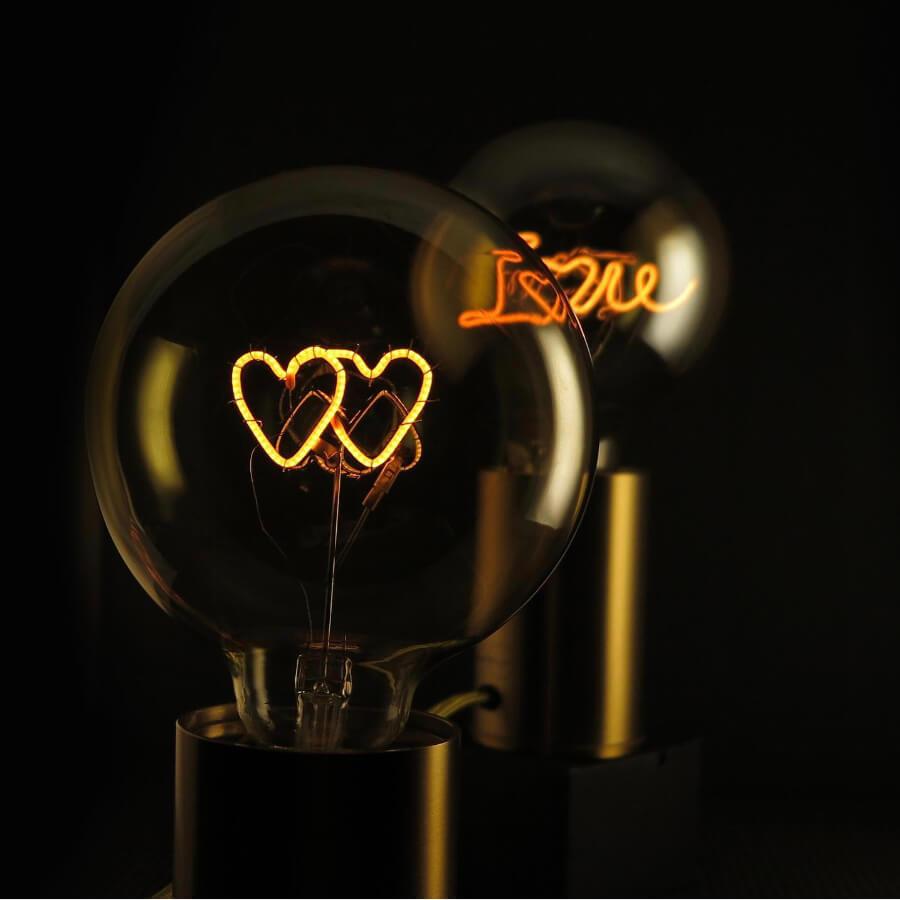 Double coeur jaune Ampoule MITB