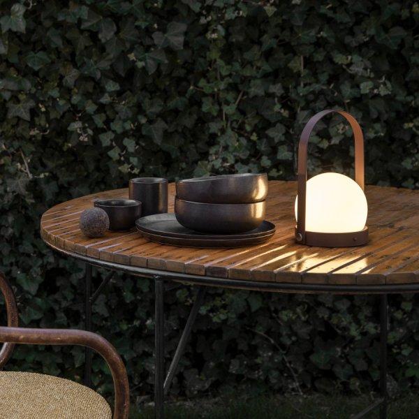 Tragbare Leuchte Carrie Olivgrün - Menu
