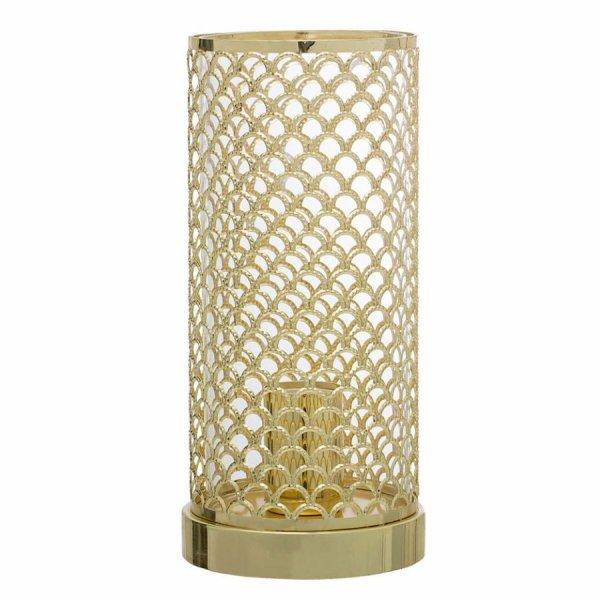Lampe de table en métal doré Elvi