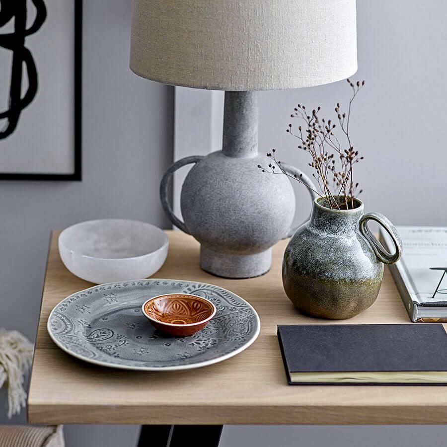 Lampe de table Terre cuite Grey Bloomingville