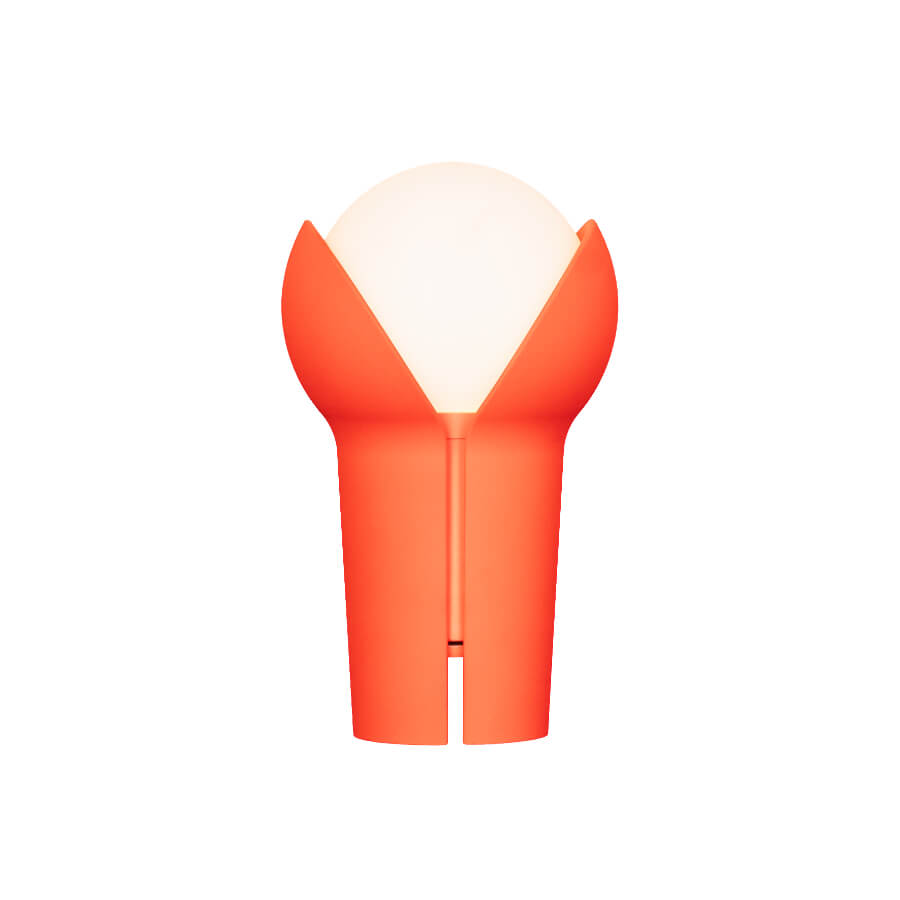 Bud rouge orangé Lampe portable Innermost