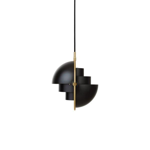 Suspension Multi-Lite noire et dorée GUBI