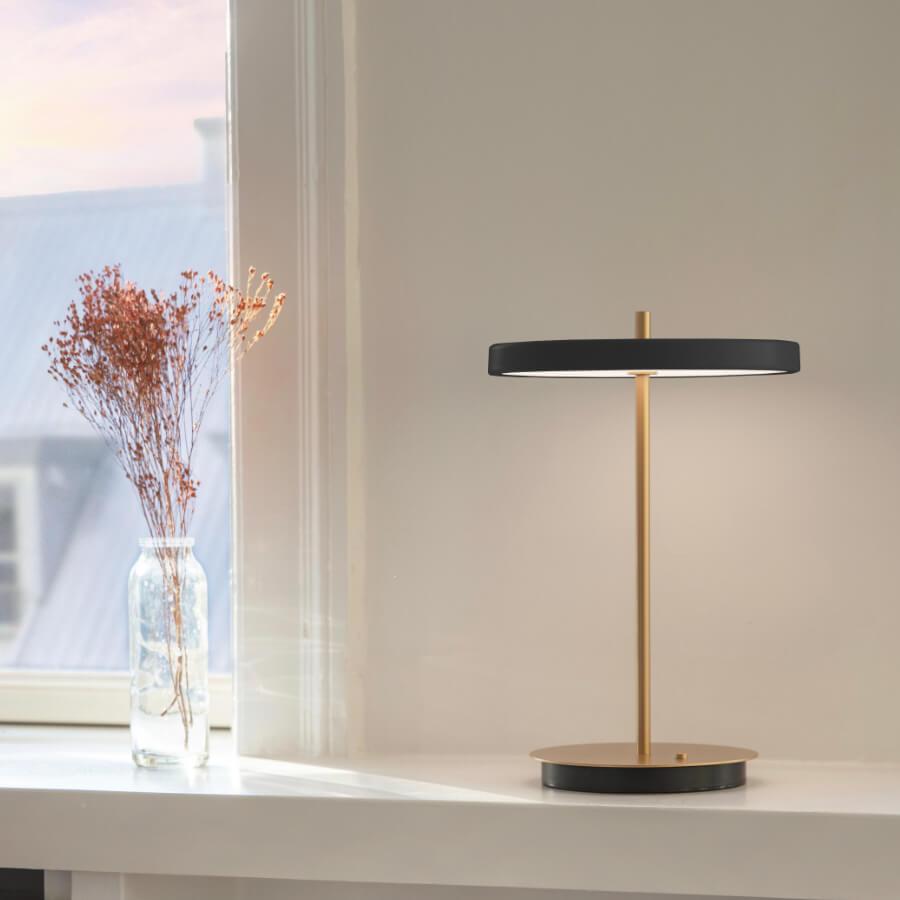 Lampe table Asteria Move noir Umage